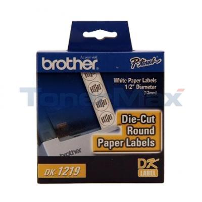 BROTHER P-TOUCH DIE CUT DIAMETER RND LABELS 1/2IN